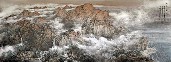 名山出海图 620x224   2009年.(青岛市政府会议厅)副本.jpg