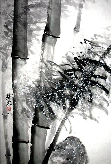 任静光作品《风雪之中见精神》.JPG
