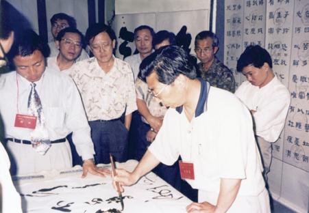 在马来西亚吉隆坡现场书法表演