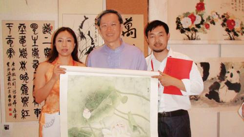 新加坡外交部长陈振泉收藏宁雪君作品