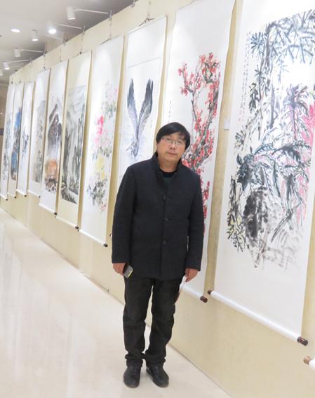 道金平老师参加中国文联展览现场照片