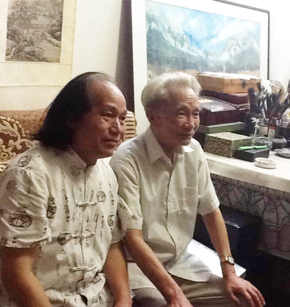 蒋征与武汉大学资深美学大家刘纲纪先生合影