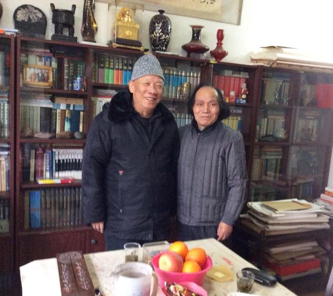 蒋征与原湖北省作协副主席刘富道先生合影