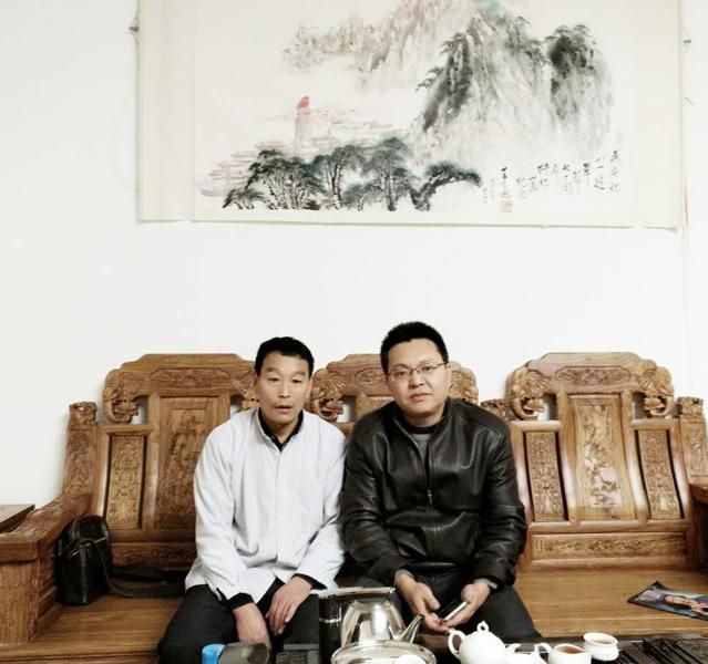 与中国国家画院张主任合影