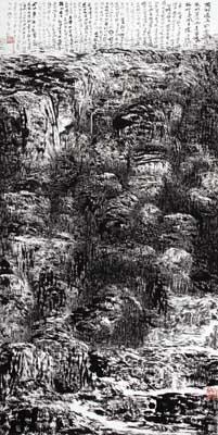 《白露为霜》 水墨宣纸 138X68cm 2010年