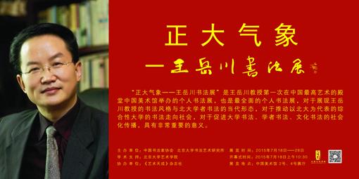 王岳川中国美术馆书法展 沈鹏题字 600x300cm