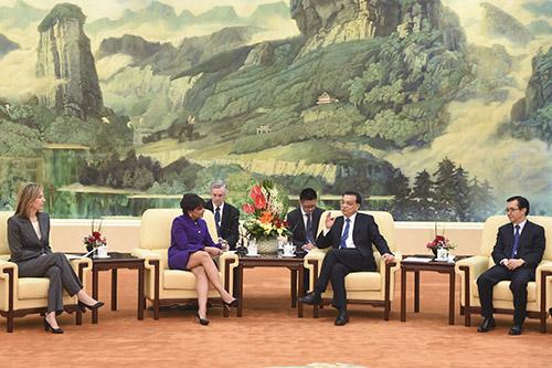 美国首派总统贸易代表团访问中国