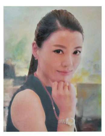 《上海靓妹风韵》规格70x90厘米