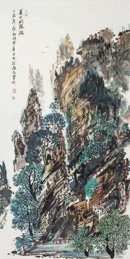童世明作品2 规格136cm×68cm
