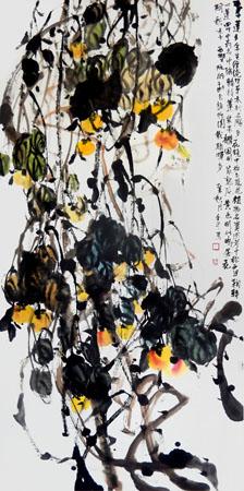 道金平作品《西番莲》68×138cm 2015年