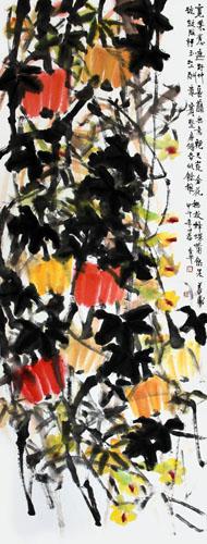 道金平作品《长藤无意绕天荒》70×180cm 2014年