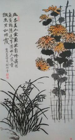 刘旺金作品2《幽谷美人》132×66cm 2015.5