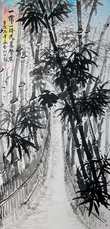 刘旺金作品4《一带一路 共享繁荣》132×66cm 2016.1