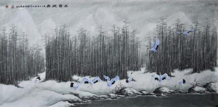 张文山作品8 《冬雪迎春》