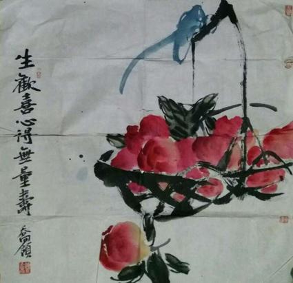 乔领作品:白骏马驰骋大草原