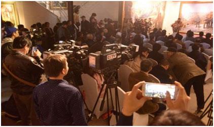 2017年2月26日在北京798曹勇艺术世界举行《重返梁家河》研讨会