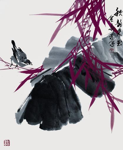 《秋韵朱玉》 45×68cm 1987年