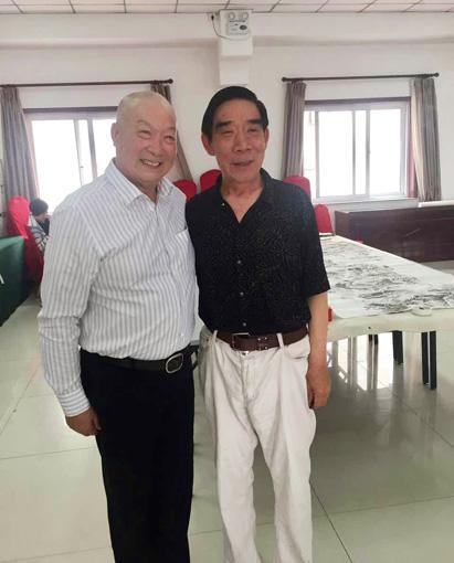 与著名京剧艺术家刘金泉老师合影