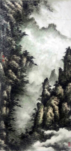 黄山书箱峰谷