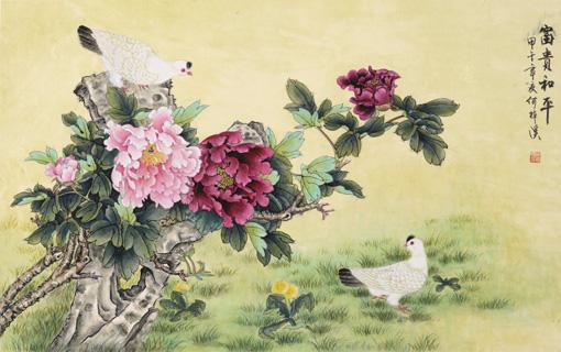 《富贵和平》甲午年 68×45cm
