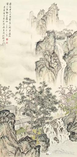 《江山行旅》六条屏之三 68×136cm