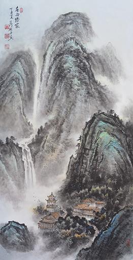 《春雨傣家》138×69cm
