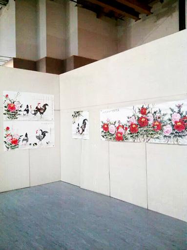 厦门海峡两岸名家书画展--展览现场