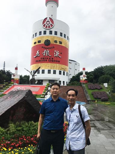 孙宗林老师与中国民族建筑研究会书画艺术专业委员会秘书长苏庆河合影
