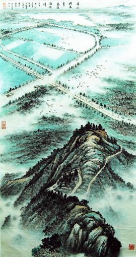 《赤山湖水秀》138cm×69cm