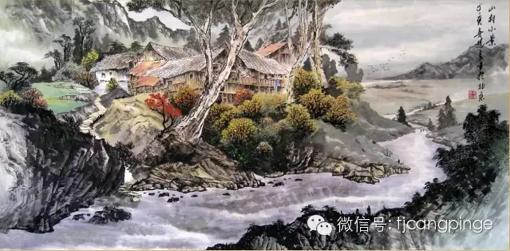 2009年11月,北京保利秋拍,吴进良作品《山村小景》拍得134.4万元人民币