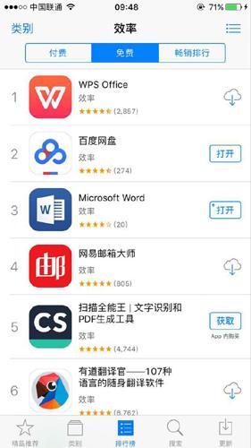 荣登苹果App Store效率类第一