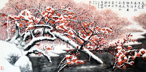 席金钟作品《香溢梅园万树春》