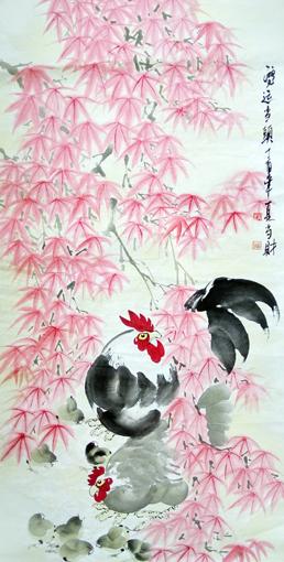 刘当财作品《鸿运当头》规格:138x68cm