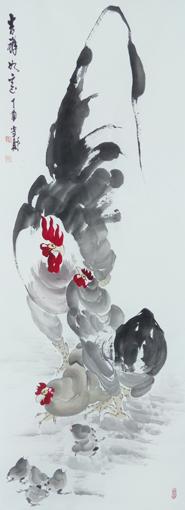 刘当财作品《吉祥如意》规格:180x97cm