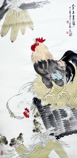 刘当财作品《金玉呈祥》规格:138x68cm