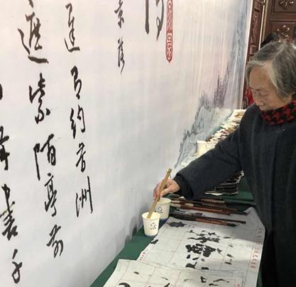 武汉老年书画研究会成立30周年纪念书画展举行