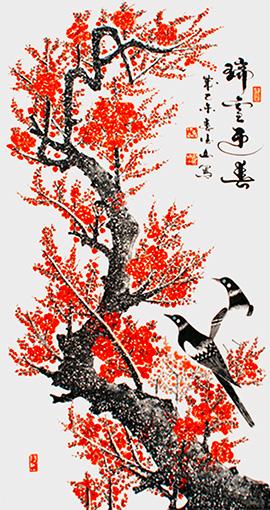 胡德山作品——《瑞雪迎春》