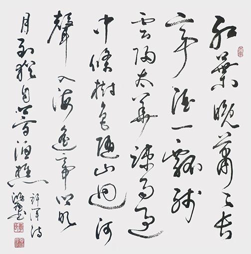季鸿雁作品——《红叶晚萧萧》四尺斗方