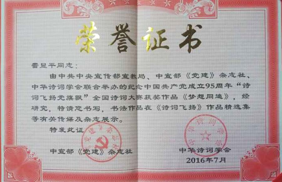 《纪念中国共产党成立95周年》