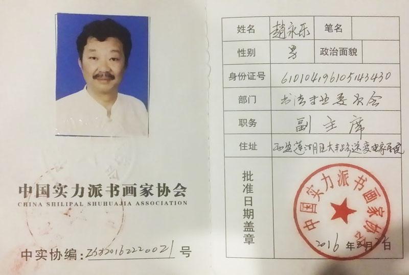 中国实力派书画家协会副主席