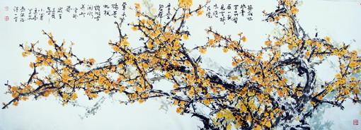 《梅花迎春来 阵阵沁幽香》370cmX120cm