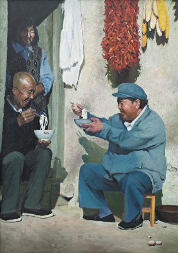 郭银峰油画作品《有味》
