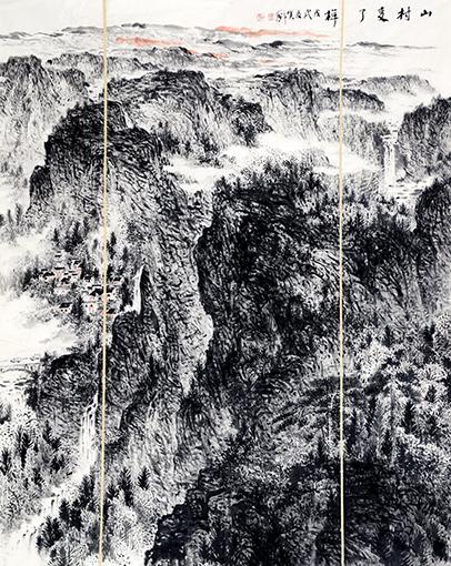 《山村变了样》170X130cm
