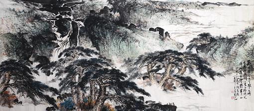 《松壑鸣泉》240X120cm