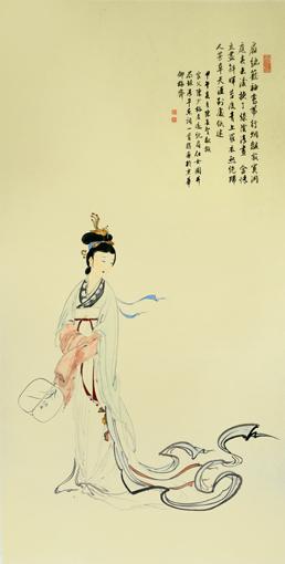 陈长智 林庆萍《纨扇仕女图》