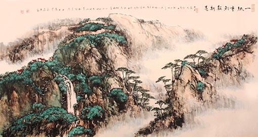 《一纸重彩报新春》 67.5cm×133cm 2009年