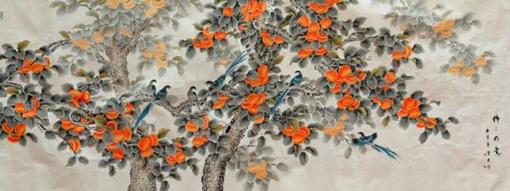 宁雪君画作《满园春色》