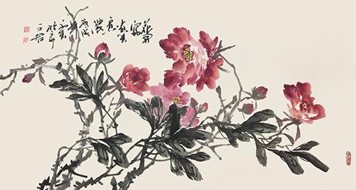 《花开富贵春意浓》尺寸:8平方尺 价格:每平尺28000元