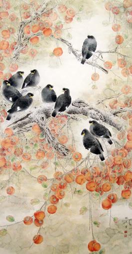 《秋实图》规格:92x170cm 价格:面议