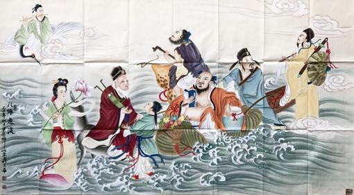 张宝玉作品《八仙过海》